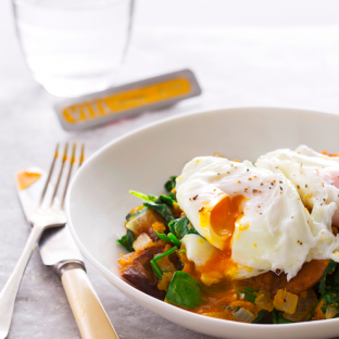 Vitl recipe poached egg and sweet potato
