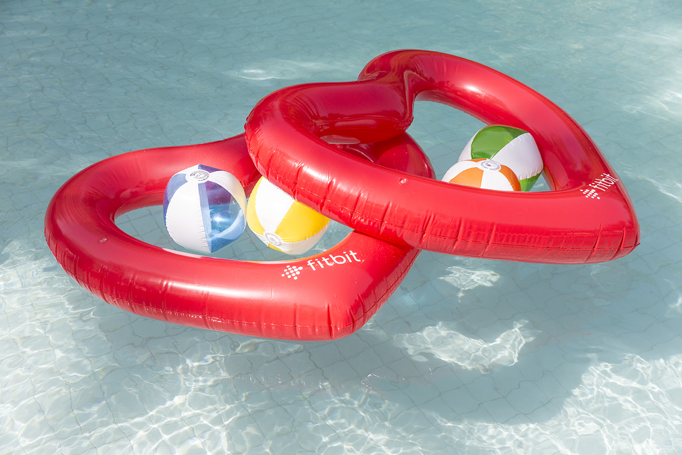 Fitbit heart inflatables