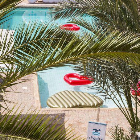 Pool area branding